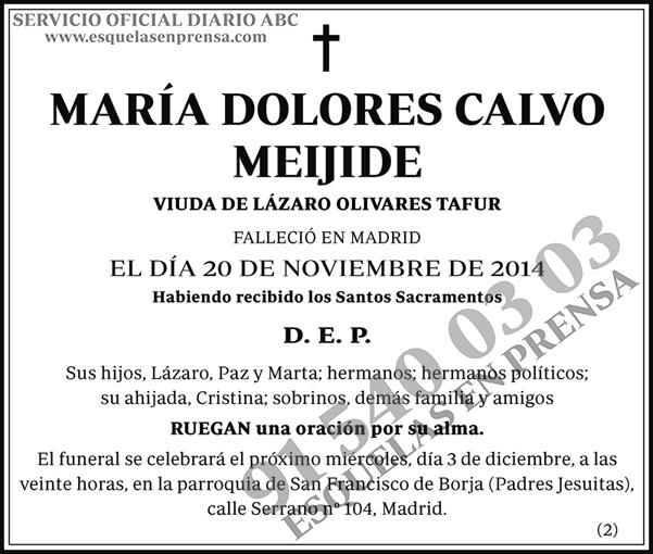 María Dolores Calvo Meijide